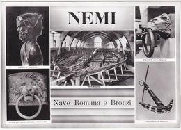NEMI - ROMA - NAVE ROMANA E BRONZI - VEDUTINE -33258- - Unclassified