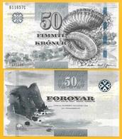Faroe Islands 50 Kronur P-29 2011 UNC Banknote - Färöer Inseln