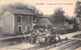 10 - Polisot - La Gare Du C.D.A. - Sortie Du Buffet Subtilement Animée - ( Café-restaurant Mennegaut ) - Autres Communes