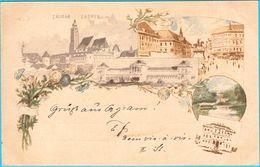 ZAGREB ..... LITHO ... ( Croatia ) * Travelled 1898. Y * Bahnhof - Railway Station * Lithography - Croatia