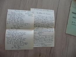 Félibre Occitan Courant Mistral  LAS Autographe Signée + 1 Poème Original 1948 - Autografi