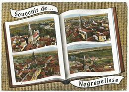 CPSM Grand Format Souvenir De NEGREPELISSE (82) – Multivues. Editions Lapie, St Maur. - Negrepelisse