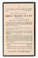 DP MARIA PAULINA GEENS,geboren Heist O D Berg 1852,echtgen.v Jan Frans PEETERS,gestorven Booischot 1933 - Religion & Esotericism