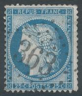 Lot N°53150  N°60, Oblit GC 363 La Bazoche-Gouet, Eure-et-Loir (27), Ind 6 - 1871-1875 Cérès