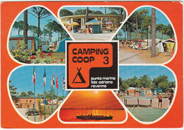PUNTA MARINA - LIDO ADRIANO - RAVENNA - CAMPING COOP 3 - VIAGG. -32870- - Ravenna