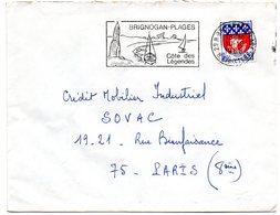 FINISTERE - Dépt N° 29 = BRIGNOGAN PLAGES 1968 = FLAMME Codée = SECAP Illustrée De MENHIR  'COTE DES / LEGENDES' - Marcophilie (Lettres)