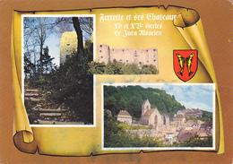 68 FERRETTE - 3 VUES  SUR PARCHEMIN - BLASON - Ferrette