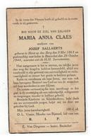 DP MARIA ANNA CLAES,geboren Heist-o-d-Berg 1863,wed.v JOZEF SALLAERTS  ,gestorven Booischot 1944 - Religion & Esotericism
