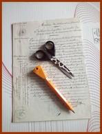 PERIGAUT GRANDCHAMP CHAMBON CREUSE Signature Autographe Sur Acte Duel Pistolet 1841 RANJON Avocat Juge Avoué Bac Coraly - Autographes