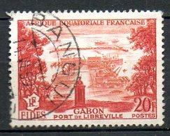 A.E.F.. N°235 Oblitéré De 1956. Port De Libreville. - Gebraucht