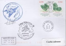 TAAF PLI ST PAUL ET AMSTERDAM TP 682/683 Obl. 18 9 2013 2 Cachets Signé. - Zonder Classificatie
