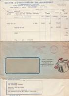 EMA Lettre Avec Facture Entête Super Cocotte SEB SELONGEY Côte D'Or 4/4/1960 - EMA (Print Machine)