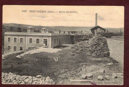 Pont-Évêque Usine Cartallier Cheminée Wagon * Isère 38780 * Pont Evêque Arrondissement De Vienne  N° 1107 - Autres Communes