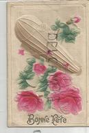 Un Zeppelin Largue Des Roses. Relief. - Dirigeables
