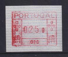Portugal Frama-ATM Mi.-Nr. 1.2 Aut.-Nr. 010 Wert 025,0 ** - ATM/Frama Labels