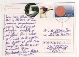 Beaux Timbres , Stamps  Football : UEFA Euro 2004 , Oiseau , Monnaie Sur Cp , Carte , Postcard - 1910-... Republic
