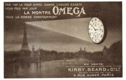 """PUB MONTRE """" OMEGA """" 1920 ( 45 ) - Horloge: Antiek"""