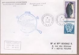 TAAF PLI TERRE ADELIE. TP 323+445 Obl.2 11 2008 Courrier Posté à Bord De L'ASTROLABE. - Sin Clasificación