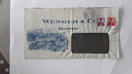 BRIEF WENGER & CO DELÉMONT AFGESTEMPELD 1913 SUISSE - Schweiz
