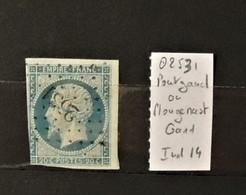03 - 20 //  France N° 14 Oblitéré PC 2531 - Pontgand Ou Plougenast - Cote Du Nord - Indice 14 - 1853-1860 Napoléon III