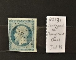 03 - 20 //  France N° 14 Oblitéré PC 2531 - Pontgand Ou Plougenast - Cote Du Nord - Indice 14 - 1853-1860 Napoleone III