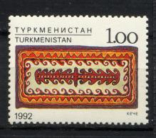 TURKMENISTAN 1992, Yvert 9, TAPIS, 1 Valeur, Neuf / Mint. R147 - Turkménistan