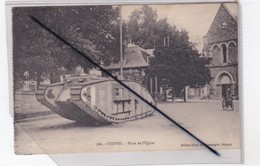 Suippes (51) L'Eglise ,premier Plan Tank Anglais - France