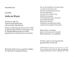 Rijkswachter J.WUYTS °NOORDERWIJK 1920 +HERENTALS 1990 - Devotion Images