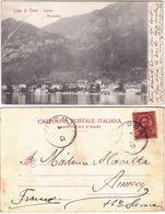 LIERNA - LECCO - PANORAMA - VIAGG. 1901 -17434- - Lecco