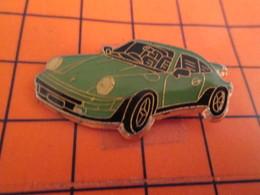 810h Pin's Pins / Beau Et Rare / THEME : AUTOMOBILES / PORSCHE 911 COULEUR DUCK EGG BLUE - Porsche