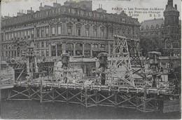 PARIS : Travaux  Du Métro  Au Pont Au Change 1906 - Pariser Métro, Bahnhöfe