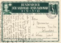 Helvetia / Schweiz - 1930 - 10 (+20) Cts Bundesfeier Postkarte - Bay - From Windisch To ? - Enteros Postales