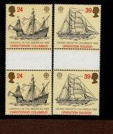 CEPT 500 Jahre Entdeckung Amerikas Großbritannien 1400 - 1401 MNH ** - 1992