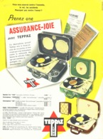"""PUB ELECTROPHONE  """" TEPPAZ """"   1957 (1) - Musique & Instruments"""