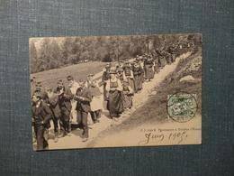 Procession à Evolène ( Valais ) 1905 (3490) - VS Valais