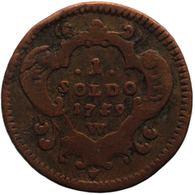 1759 One Soldo County Of Gorizia (Italian States) Maria Theresa Coin - Lehnsgeld