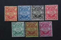 REUNION,année 1907 Timbres -taxe  Y&Tno TA6 à TA12 NEUFS MH *...TB (trés Légères Traces De Charnières) - Réunion (1852-1975)