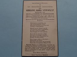 DP > Godelieve-Maria VERWILST ( Dochter Van MEIRHAEGHE ) Ruiselede 6 April 1936 - 22 Mei 1945 ( Zie Foto's ) ! - Todesanzeige