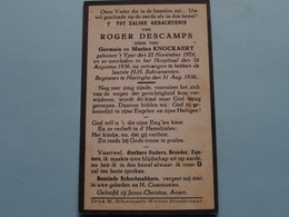 DP > Roger DESCAMPS ( Zoon Van KNOCKAERT ) YPER 22 Nov 1924 - 26 Aug 1936 > Begraven Te HARINGHE 31 Aug ( Zie Foto's ) ! - Todesanzeige