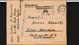 German Feldpost WW2: 2./Bordfunker Ausbildungs Kompanie At The Nachrichtenschule In Halle/Saale - Guerre Mondiale (Seconde)