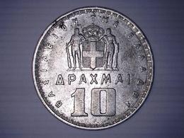 GRECE  1959 - 10 Drachmai Royaume - Paul Ier - Greece