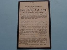 DP > Mej. Maria - Emilia Van DYCK () Gent 12 Oct 1841 - 15 Aug 1912 ( Zie Foto's ) ! - Todesanzeige