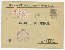 Rotterdam - Via Aachen - Belgie 1916 - Freigegeben - 1891-1948 (Wilhelmine)