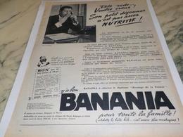 ANCIENNE PUBLICITE TETE VIDE VENTRE CREUX BANANIA  1961 - Affiches