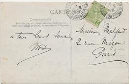 CARTE CARNAVAL DE NICE AFFRANCHIE TIMBRE DE MONACO N° 22 - ANNEE 1908 - Monaco