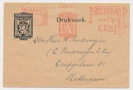 Meter Cover Netherlands 1932 Coat Of Arms - Lion - Waalwijk - Armoiries