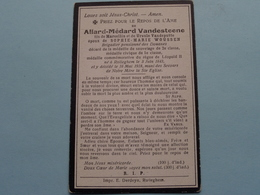 DP > Allard-Médard VANDESTEENE ( Vandeputte / Woussen ) Rolleghem 3 Juin 1843 - 16 Mai 1918 ( Zie Foto's ) ! - Todesanzeige