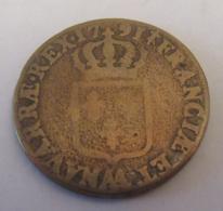 France - Monnaie Sol à L'Ecu Louis XVI 1791 AA (METZ) - Cuivre - Diam. 28,5 Mm - 987-1789 Monnaies Royales