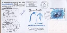 TAAF PLI TERRE ADELIE. TP 849 Obl. 3 5 2018 Cachets Divers Signé TB - Zonder Classificatie