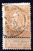 BELGIQUE - 1893-1900 - N° 62 - 50 C. Bistre - (Léopold II) - 1869-1883 Leopold II